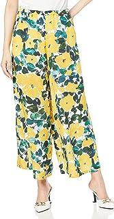 GRACE CONTINENTAL 21SS 0221211146 植物喇叭裤 黄色 36