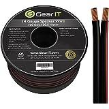 GearIT 14-Gauge Speaker Wire (100 Feet/30.48 Meters) Black…