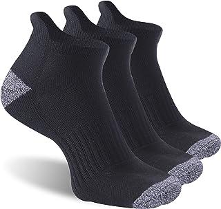 TJOY 高性能运动脚踝袜,防泡跑步袜,带缓冲垫,男女适用,3/6 双装