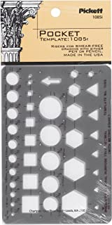 Pickett Pocket Template, Contains Circles, Squares, Hexagons and Triangles (1085I)