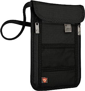 Lewis N. Clark RFID 不会勒住脖子的钱包,旅行袋+男女护照夹,黑色
