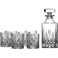 Royal Doulton Decanter 酒吧用具套装和6个玻璃杯,共7套