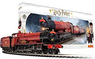 Hornby Hobbies 华纳兄弟 哈利·波特·霍格沃茨特快电动模型火车套装,HO轨道,带美国电源,R1234M,红色和黑色
