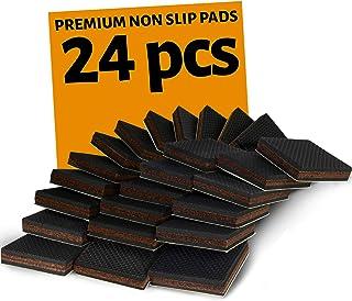 NON SLIP 家具垫片 24 个正方形! 优质 5.08 厘米家具脚带橡胶和毛毡 - *好的硬木地板保护装置,适合所有家具。 *橡胶家具垫,* 满意
