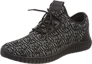 都市经典中性款成人 ' 针织轻跑步鞋运动鞋黑色