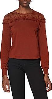 ONLY 女士 Onlcherry L/S 网眼圆领 SWT 运动衫
