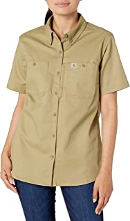 Carhartt 女式常规结实专业短袖衬衫