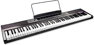 RockJam 88-Key 初学者数字钢琴/键盘,全尺寸半加重键,电源和内置扬声器