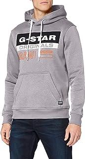 G-STAR RAW 男式 Color Block Originals 标志连帽运动衫