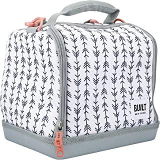 BUILT Bowery 保温午餐包,防水隔热野餐冷却手提包,适合工作和玩耍,柔软涤纶/PEVA,17.5 x 24 x 26 厘米/7 升(Belle Vie)
