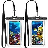 (2 件装) JOTO 通用防水袋手机保护套高达 7 英寸(约 17.8 厘米),全透明水下干燥袋适用于 iPhone…