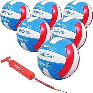 GoSports 柔软触感休闲排球 - 规定尺寸适合室内或室外玩耍 - 包括球泵 - 单个或 6 件装之间进行选择,访问 GoSports 商店