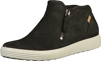 ECCO 爱步 女式 SOFT 7 低帮拉链运动鞋