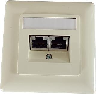 Setec 501286A Cat5E UP 网络插座 ral1013 珍珠白色