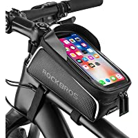 RockBros 自行车前架包自行车防水顶管框架驼峰机手机触摸屏支架自行车包适合低于 15.24 cm 的手机