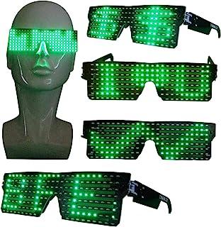 CYB 可定制 LED 发光眼镜,适用于狂欢、派对、音乐节、万圣节,带 USB (*)