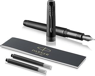 PARKER 派克 1931431 Premier钢笔,精细的笔尖 带有黑色墨囊-黑色