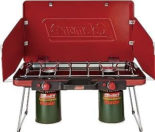 Coleman 燃烧炉 Powerhouse 罐装液化气适用 双头炉 2 红色 2000021950 [日本正品]