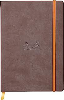 Rhodia 记事本,带软封面 dot grid 80 Blatt, A5 148 x 210 mm 巧克力棕色