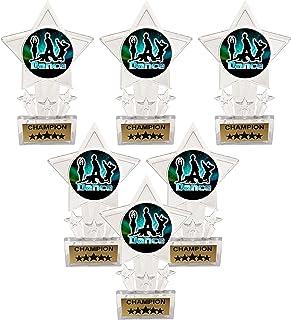Express Medals 6.5 英寸透明亚克力星星现代舞蹈战斗冠军*杯*杯(6 件装)