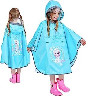 Disney 冰雪奇缘 Elsa 连帽雨披夹克雨衣 女童幼儿儿童