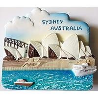 Opera House SYDNEY AUSTRALIA 树脂 3D 冰箱冰箱泰国磁贴手工制作。 由泰国MCnets 制…