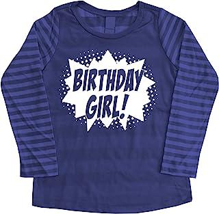 *英雄生日女孩漫画书英雄派对 T 恤