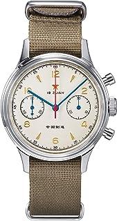 原装 1963 男式 38 毫米手表 海鸥机芯 ST1901 Pilot 计时机械腕表不锈钢亚克力玻璃半球形镜面模拟休闲正装手表