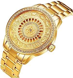 DDL 男士自动豪华幸运十二生肖手表(背面时尚骷髅规格)金