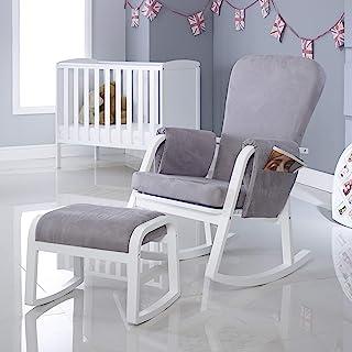 Ickle Bubba Dursley 摇椅和凳子 - 珍珠灰