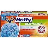 Hefty Recycling Tall Kitchen Drawstring Trash Bags, Blue, 60…