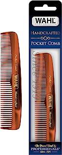 Wahl Model 3324 胡须、小胡子和*口袋梳子 适用于男士*-手工制作和手工切割,醋酸纤维素,光滑圆锥形牙齿