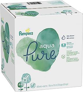 Pampers 帮宝适 Aqua Pure 敏感水婴儿尿布湿巾,防*无香型 无味 448 Count