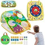 儿童豆袋投掷游戏, 室外玩具年龄 3 4 5 4 – 8 岁男孩女孩生日或圣诞节*佳礼物,幼儿游戏可折叠双面户外沙包板儿…