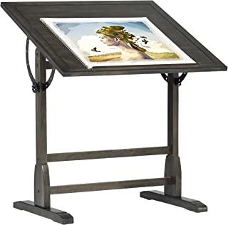 SD STUDIO DESIGNS 复古实木绘画,起草桌带 91.44 cm 可调节倾斜顶部,91.44 cm 宽 x 61.96 cm 深,仿旧黑色