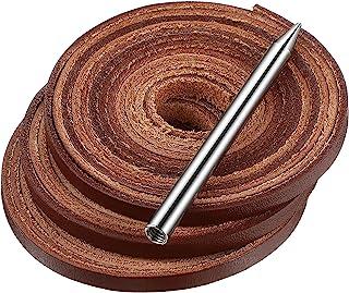 Wiaxin 3 卷垒球和棒球手套蕾丝套件,带 1 件系带针,72 x 3/16 英寸皮革蕾丝和 3 x 6/25 英寸手套手套修补 DIY 皮革工艺