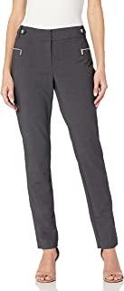 Calvin Klein 女式拉链搭扣直筒长裤