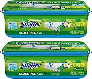 Swiffer Sweeper 湿拖布填充装 - 开窗清新- 24 支装 开窗即清新 24 Count (Pack of 2) 48