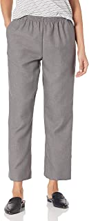 Alfred Dunner 全弹力腰涤纶短款小号裤 - 套穿风格 灰色 8 Petite