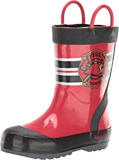 Kamik 中性儿童 Fireman 橡胶靴