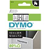 hartwii 黑字白色标签盒兼容 dymod1 标签胶带 6–24 毫米 7 米45013 12 mm