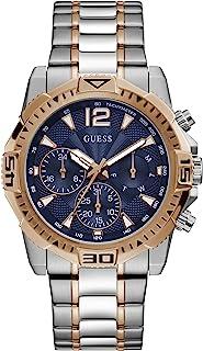 GUESS 男士模拟石英手表不锈钢表带银色22(型号:GW0056G5)