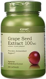 GNC 健安喜 Herbal Plus 葡萄籽提取物 100 毫克 200 粒胶囊 200 Capsules 200.00