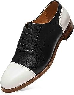 女式牛津穿孔系带布洛克翼尖德比马鞍礼服婚礼皮革鞋适合女孩女士