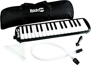 RockJam 32 键旋律,带 2 个吹嘴空钢琴键盘,钢琴,带便携袋和清洁布