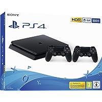 PlayStation 4 - 控制台(500GB,黑色,E-Chassis),包括2个DualShock控制器