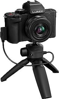 Panasonic 松下 LUMIX G100 4k 无反光摄像机,轻型相机,适用于照片和视频,内置麦克风,三分之一带12-32毫米镜头,5轴混合 I.S,4K 24p 30p 视频,DC-G100KK (黑色)