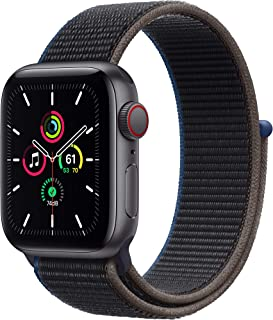 新款 Apple Watch SE (GPS + 蜂窝,40 毫米) - 太空灰色铝制外壳带木炭运动环