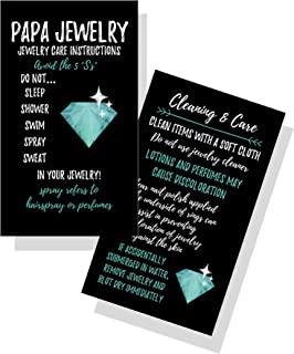 珠宝清洁和护理卡   50 件   闪亮蓝*钻石   Jewelry Bling Queen 护理说明