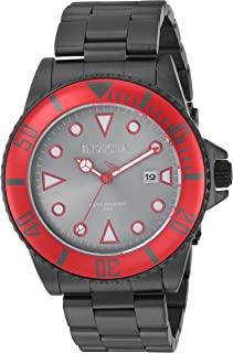 """Invicta 男式""""Pro Diver""""石英不锈钢休闲手表,颜色:黑色(型号:90296)"""